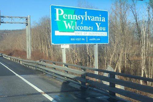 AGS Moving entering Pennsylvania